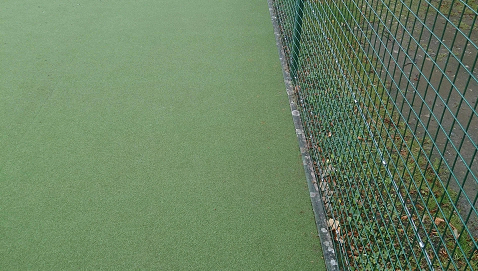 artificial turf tennis surface close up image